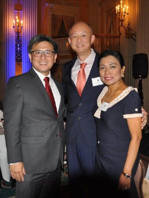 FACC Tri-County Board Member and Legal Counsel Abraham L. Lim, (center) and his wife Annie Cuevas-Lim